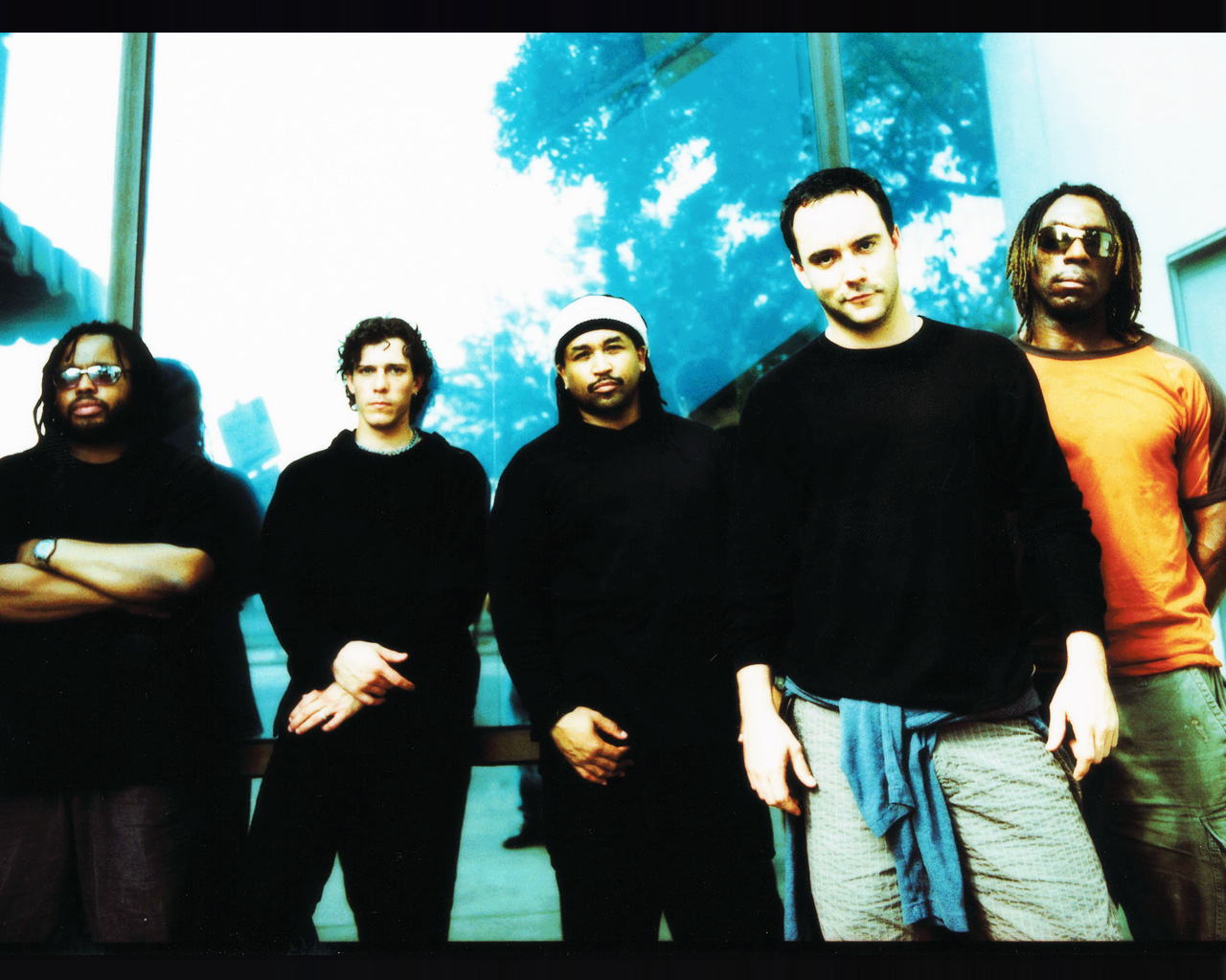 LeRoi Moore on the left in this photo of the DMB Band