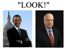 mcain obama overuse of the word look
