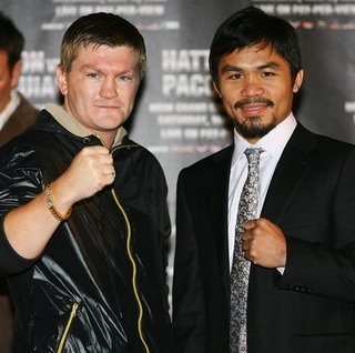 Manny Pacquiao Ricky Hatton Junior Welterweight Fight