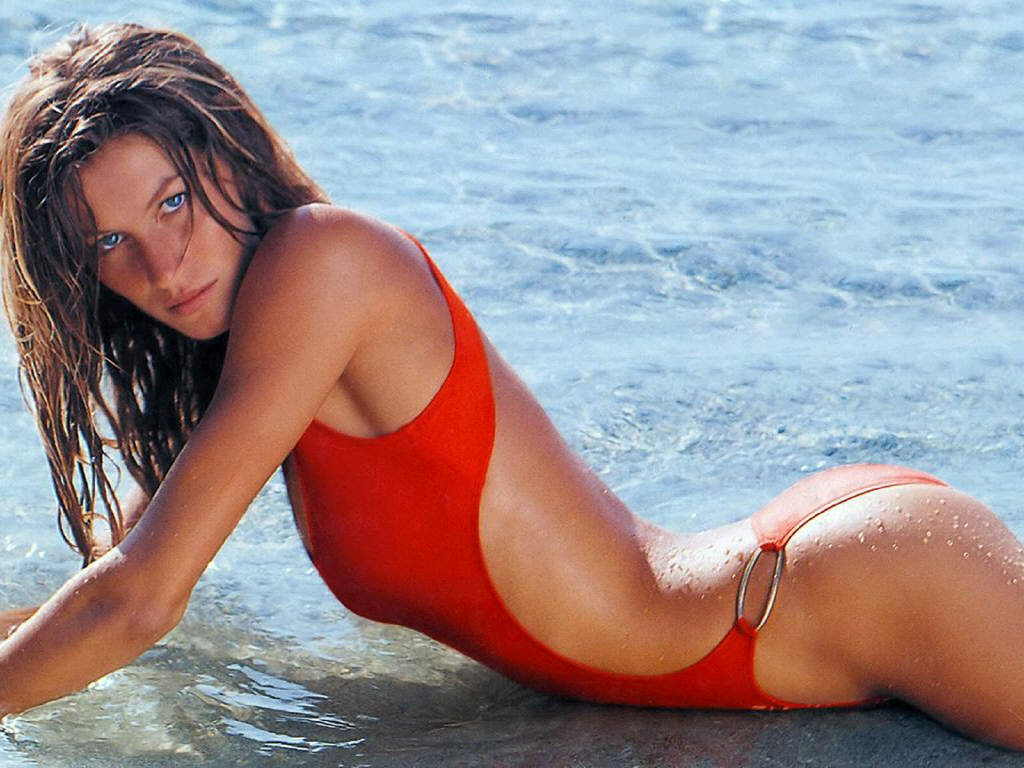 Gisele Bundchen at the beach