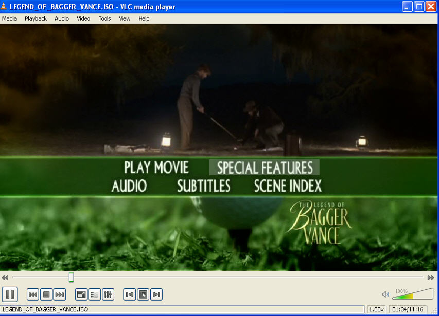 watching an .ISO file in VLC Media Player