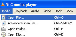 open an .ISO file in VLC Media Player