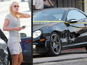 Lindsay Lohan Car Crash