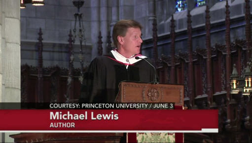 Michael Lewis on Princeton Speech